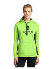 CSU Ladies Lime Green Hoodie